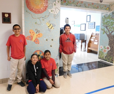 Mosaic Mural Transforms Students at Foster Elementary