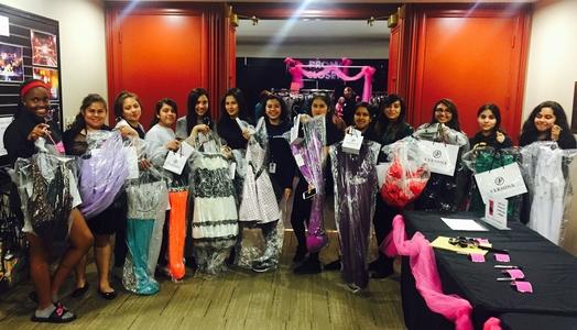 Marsh Leadership Cadet Ladies Visit Prom Closet