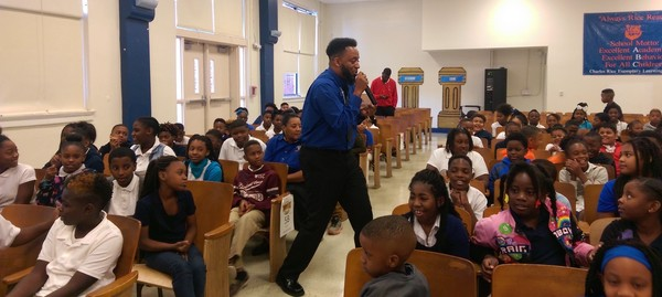 Big Thought's James Adams Becomes Principal Role Model at Charles Rice