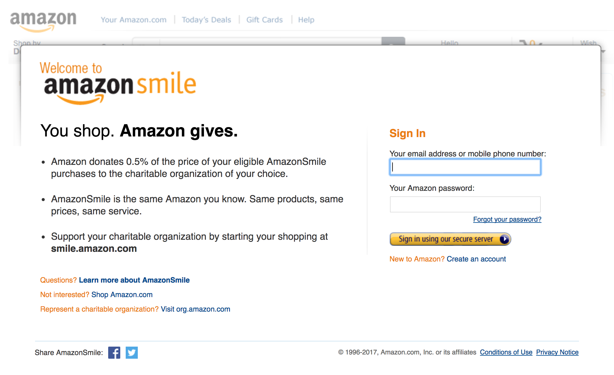 How to Support Big Thought with AmazonSmile