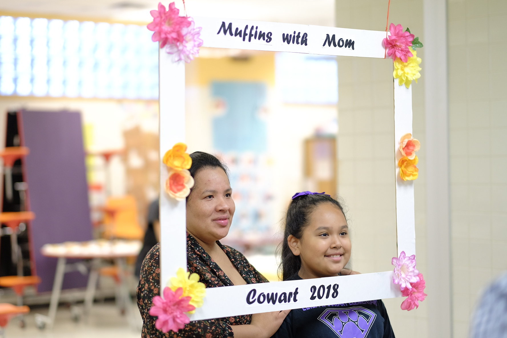 Muffins with Mom at Cowart Elementary