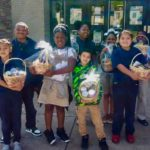 Afterschool students at Martin Weiss Elementary donate food