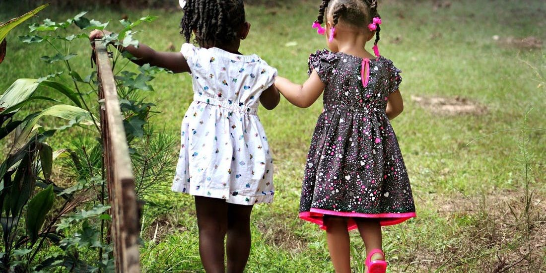 Two Toddler Girls Black Girl Friends