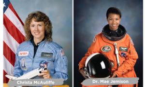 Christa McAuliffe and Dr. Mae Jemison