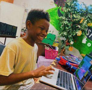Smiling remote learner