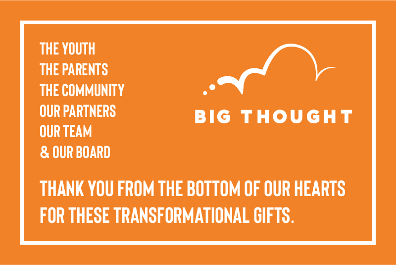 Big Thought Announces $2.5 Million in Donations